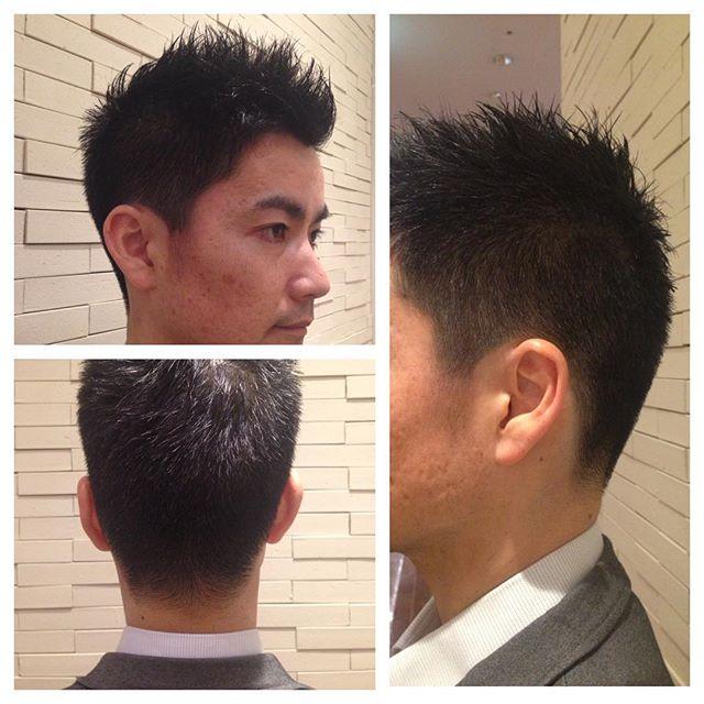 ビジネス ショートスタイル  ビジネス向けのショートスタイル‼  耳周りはバリカンをいれずにハサミで綺麗に整えて、 短過ぎない全体のバランスを考えた爽やかなショートスタイルです‼ ビジネスをするには髪型の印象もとても大事だと思います。 #山形亮太